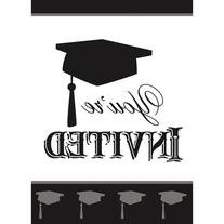 Classic Graduation Invitations, 8ct