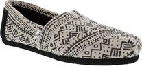 Toms Women's Classic Printed Wool Black Taupe Casual Shoe 9.