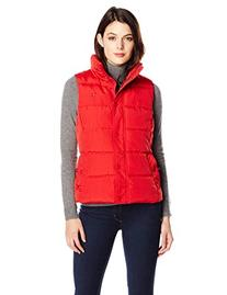 Tommy Hilfiger Women's Classic Quilted Down Vest, Red, Small