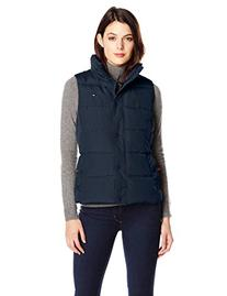 Tommy Hilfiger Women's Classic Quilted Down Vest, Navy,