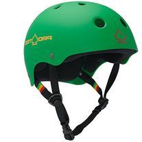 PROTEC Original Classic Skate Helmet, Rasta Green, Large