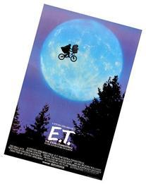 classic STEVEN SPEILBERG movie poster ET riding bike across