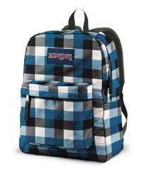 JanSport T501 Superbreak Backpack - BlueStreak Block Check