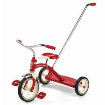 Radio Flyer Classic Tricycle with Push Handle, Red by Radio