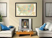 32x50 Rand McNally Classic United States USA Wall Map Framed