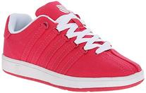 K-Swiss Classic Vintage Textile PS Tennis Shoe ,Raspberry/