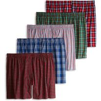 Hanes Men's 5 Pack Ultimate Tartan Boxers - Colors May Vary,