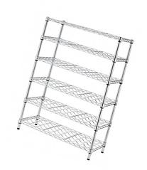 Classics 54-Bottle Chrome 6-Shelf Wine Rack Wire Shelving,