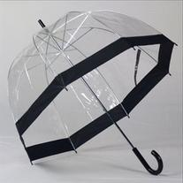 Clear Bubble Umbrellas Blk Trim