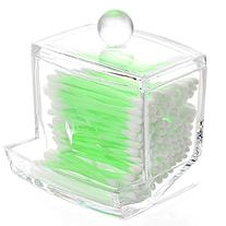 YESURPRISE Clear Cotton Swab Q-tip Cosmetic Makeup Case