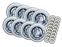 CLEAR MULTI USE Inline Skate Wheels 80mm ABEC 9 BEARING