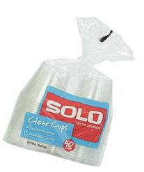 Solo Clear Plastic Cups, 9 oz, 40 ct