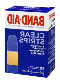Band-Aid Brand Clear Strips Adhesive Bandages, 30 CT