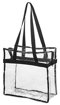 """Clear Tote Bag NFL Stadium Approved - 12"""" X 12"""" X 6"""" -"""
