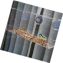 PetsN'all Clear Window Family Diner, Four-Bird Capacity