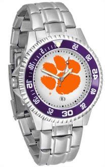 Clemson Tigers NCAA Mens Steel Bandwrist Watch