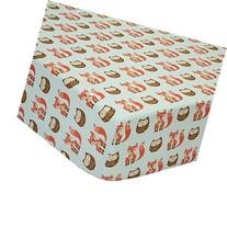 Clever Fox Fitted Crib Sheet by Little Haven
