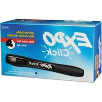 EXPO Click Dry Erase Markers, Black, Dozen