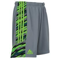 adidas Mens ClimaLite Squadra+ Short Medium Grey/Green