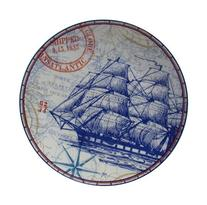 222 Fifth Clipper Blue Sailing Map Appetizer or Dessert