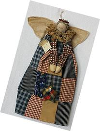 Cloth Angel 14 Inches Christmas Tree Topper Wears a Long