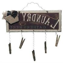Ohio Wholesale Clothespin Laundry Sign Wall Art, from our