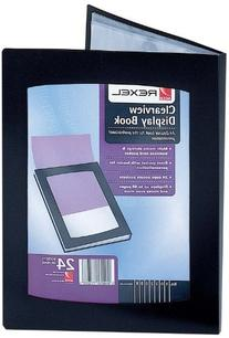 Rexel A5 Clearview Display Book with 24 Pocket - Black