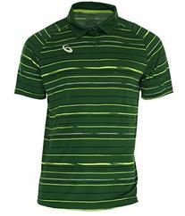 ASICS Men's Club Graphic Short Sleeve Polo, Oak Green,