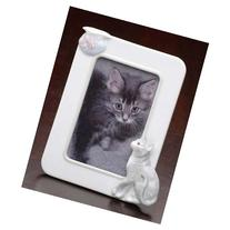 Club Pack of 12 Handcrafted Porcelain Cat & Fish 4x6 Photo