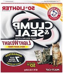 Arm & Hammer Clump & Seal Lightweight Litter, Multi-Cat, 15