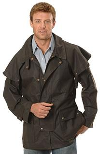 Outback Trading Co Men's Co. Short Oilskin Duster Brown XXX-