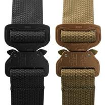 "Elite CO Shooters Belt with Cobra Buckle, 1.5"", Coyote Tan,"
