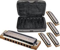 Hohner COB Case of Blues 5 Harmonica Bundle Keys of G, A, C