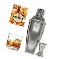 Cocktail Shaker Set - Professional Bar Kit Bundle w/ Double