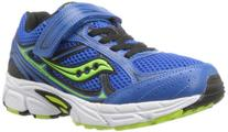 Saucony Boys Cohesion 7 A/C Running Shoe ,Blue/Black/Green,
