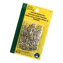 Dritz Coil-Less Curved Safety Pins, Size 1, 50-Pack