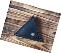 Leather Coin Pouch - triangle coin purse handmade, Coin Case
