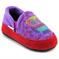 Acorn Kids Colby Gore Moc Girls Canvas Slippers