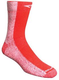 Cold Weather Run Crew Socks, Red, Small