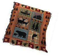 Manual The Lodge Collection 50 x 60-Inch Tapestry Throw with
