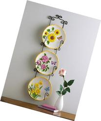 Collections Etc - 3D Floral Decorative Hanging Plates