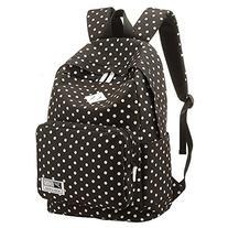Rbenxia College Backpack Vintage Dots School Bag for Teens