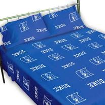 Duke Printed Sheet Set Twin - Solid by College Covers