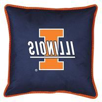 Sports Coverage Inc. NCAA Illinois Sidelines Throw Pillow