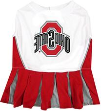 Pets First Collegiate Ohio State Buckeyes Dog Cheerleader
