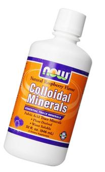Now Foods Colloidal Minerals, Natural Rasberry Flavor, 32-