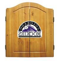 Colorado Rockies MLB Dart Board w/Cabinet