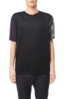Men's Lanvin Colorblock T-Shirt, Size Medium - Black