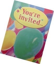 "Kids ""You're Invited"" Colorful Balloons Birthday Party Fill"