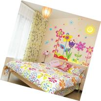 Magic Decals Colorful Flowers of Sunshine Life Wall Sticker